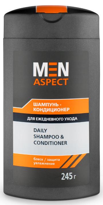 Modum Шампунь-кондиционер для ежедневного ухода Men Aspect, 245 г polyquaternium 7 в косметике