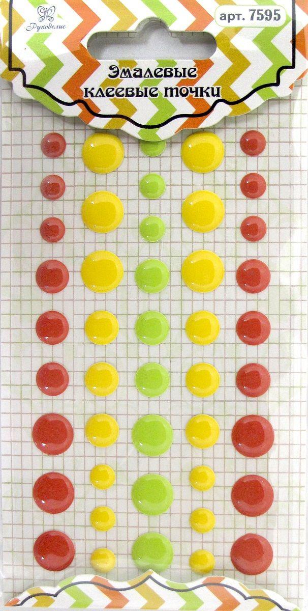 """Точки для рукоделия """"Рукоделие"""", цвет: желтый, красный, светло-зеленый, 45 шт"""