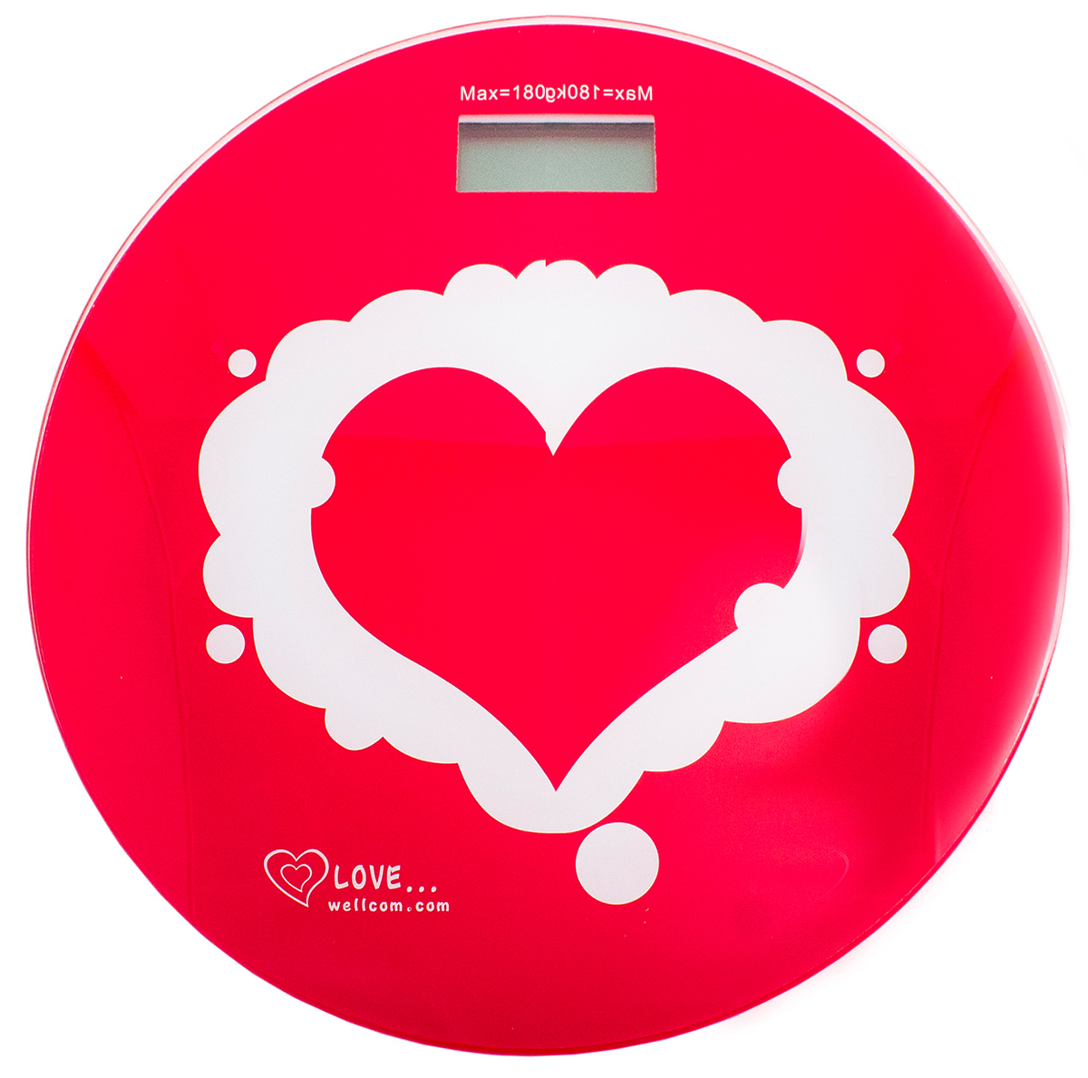 Весы напольные Эврика  Сердце , цвет: красный