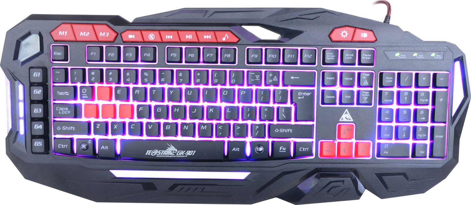лучшая цена Xtrike Me GK-901, Black игровая клавиатура