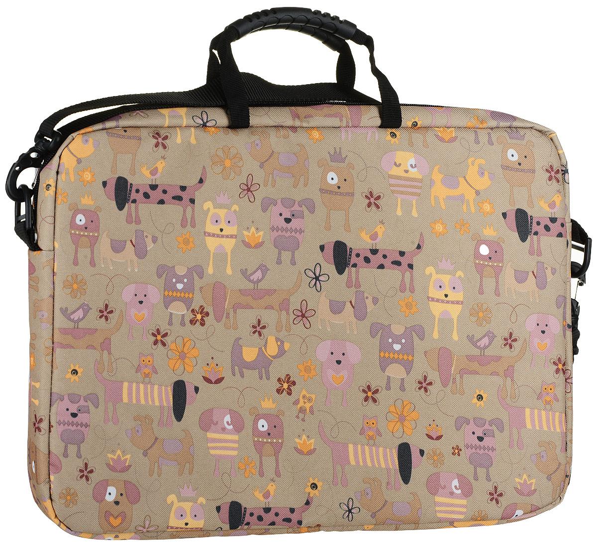 "Vivacase Doggy, Brown сумка для ноутбука 15,6"""