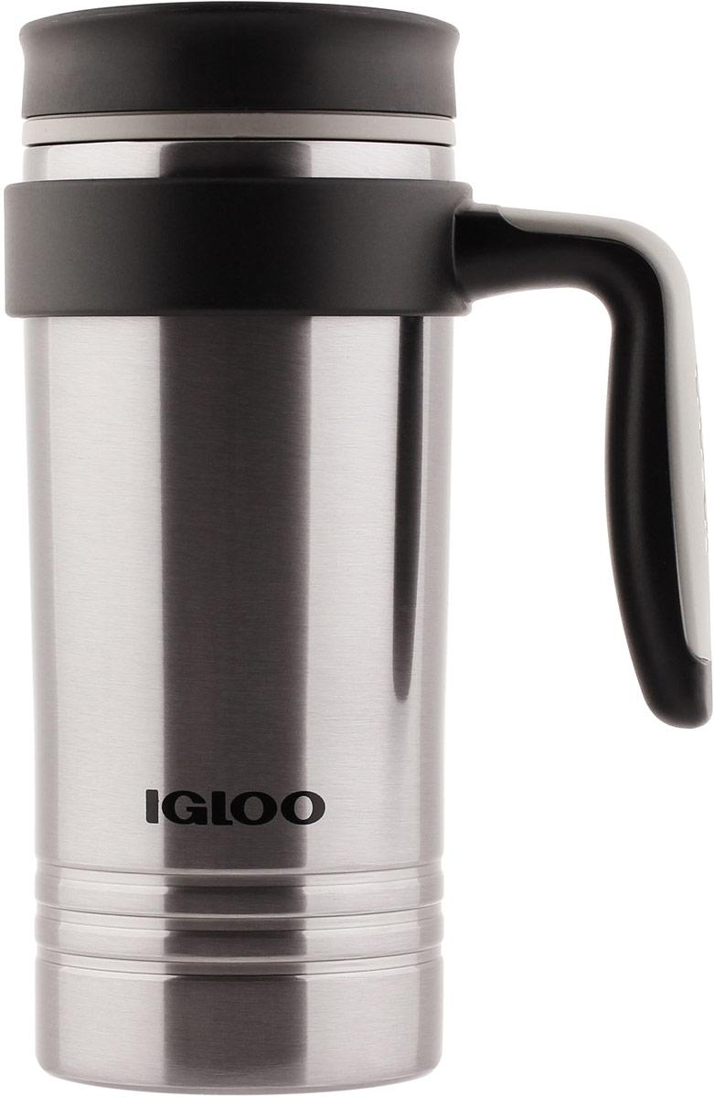 Кружка-термос Igloo Isabel, с вакуумной изоляцией, с ручкой, цвет: серебристый, 473 мл