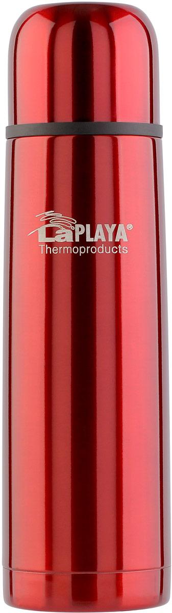 Термос LaPlaya, цвет: красный, 0,5 л560109Термосы серии Mercury надежные и практичные, используются для ежедневного применения. Небьющийся корпус этих термосов выполнен из нержавеющей стали марки 18/8.Вакуум между двумя стенками позволяет сохранять напитки горячими в течение всего рабочего дня до 70 градусов! При такой температуре можно приготовить свежезаваренный ароматный напиток. Но даже после 8 часов использования напитки остаются горячими до 12 часов.Герметичная пробка термосов серии Mercury предусматривает гигиеничный уход благодаря разборной конструкции.Клапан open/close имеет надежный механизм и прослужит в течение всего срока использования термоса.Дизайнерская упаковка позволяет использовать эту модель в качестве практичного и недорого подарка без лишних затрат.