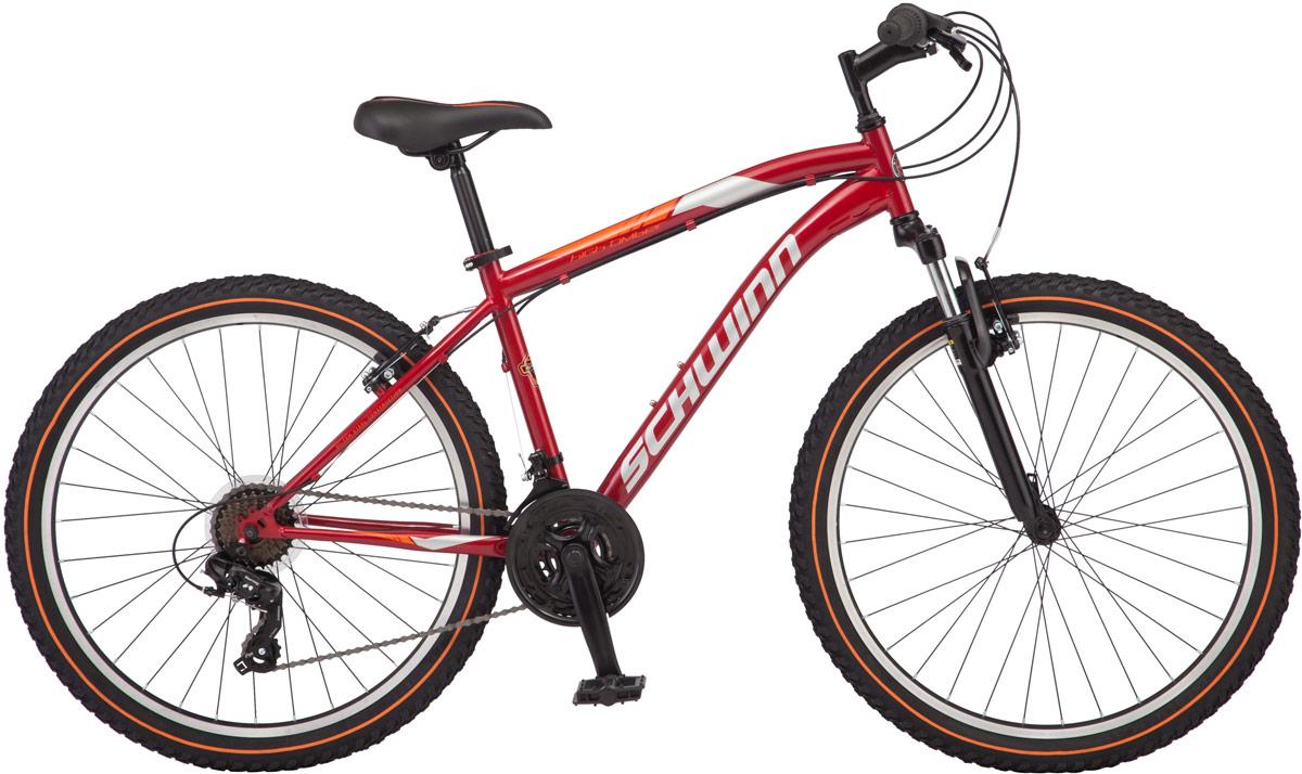 Велосипед горный Schwinn High Timber, колесо 26, рама 18, цвет: красный, 21 скорость