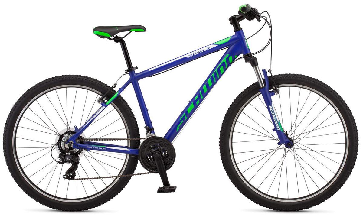 Велосипед горный Schwinn Mesa 2, колесо 27,5, рама L, цвет: синий, 21 скорость велосипед горный schwinn mesa 1 цвет черный колесо 27 5 рама l