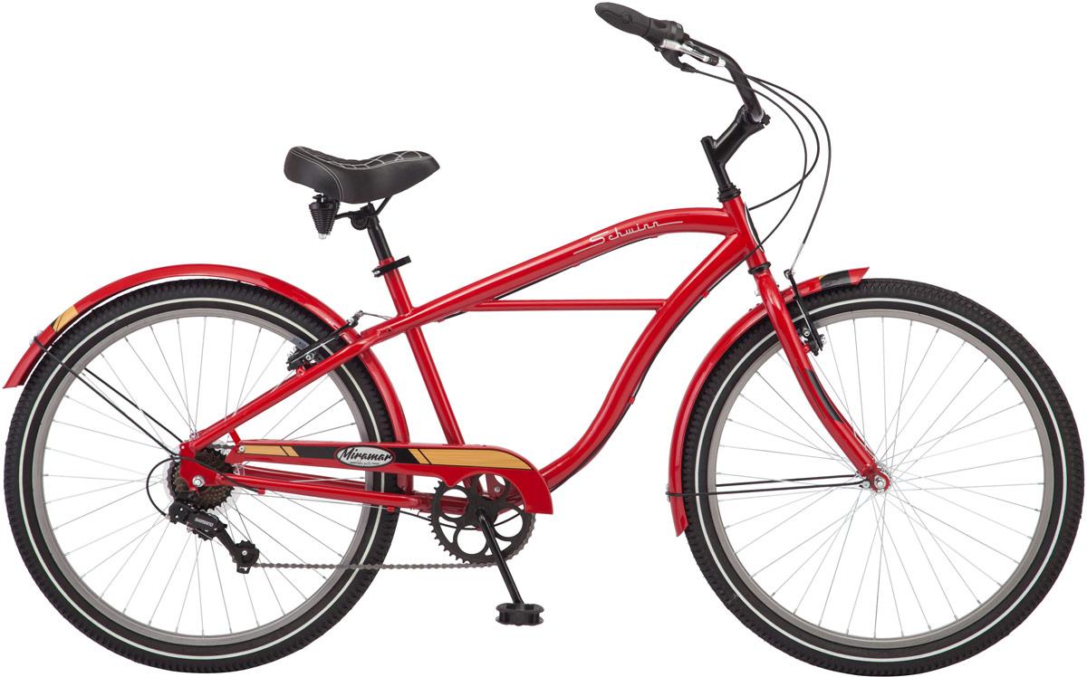Велосипед городской Schwinn Miramar, колесо 26, рама 18, цвет: красный, 7 скоростей