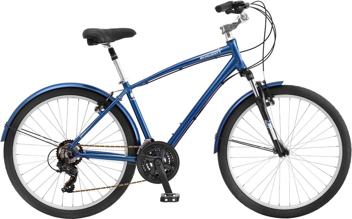 Велосипед городской Schwinn Sierra, цвет: синий, колесо 26, рама L, 21 скорость вилка амортизационная suntour гидравлическая для велосипедов 26 ход 100 120мм sf14 xcr32 rl 26