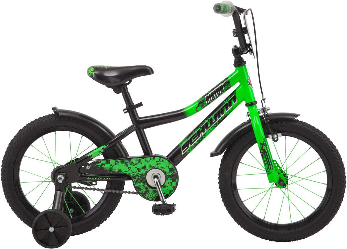 Велосипед детский Schwinn Piston, колесо 16, цвет: зеленый велосипед schwinn meridian 2018