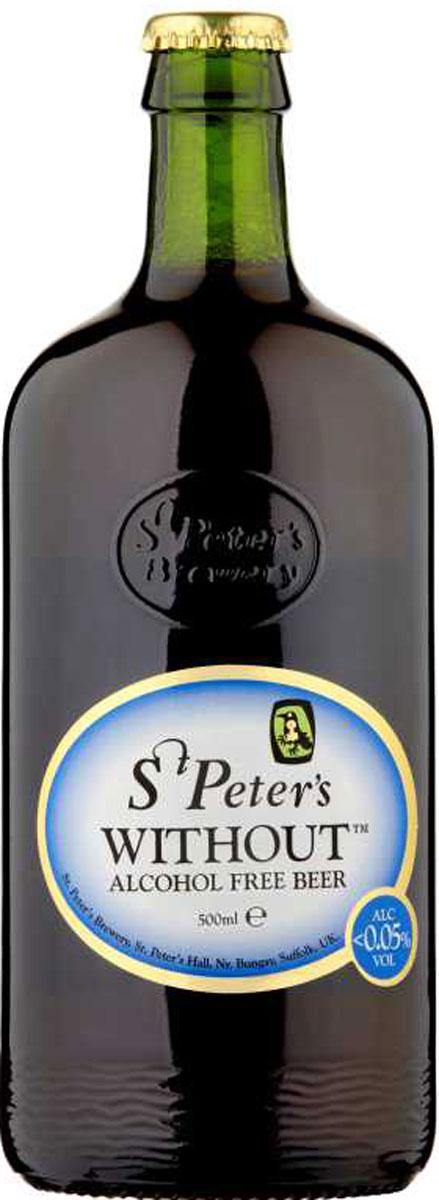 St. Peter's Without Пиво безалкогольное 0,05% Alcohol Free темное, фильтрованное, 0,5 л rimuss secco шампанское полусухое безалкогольное 0 75 л