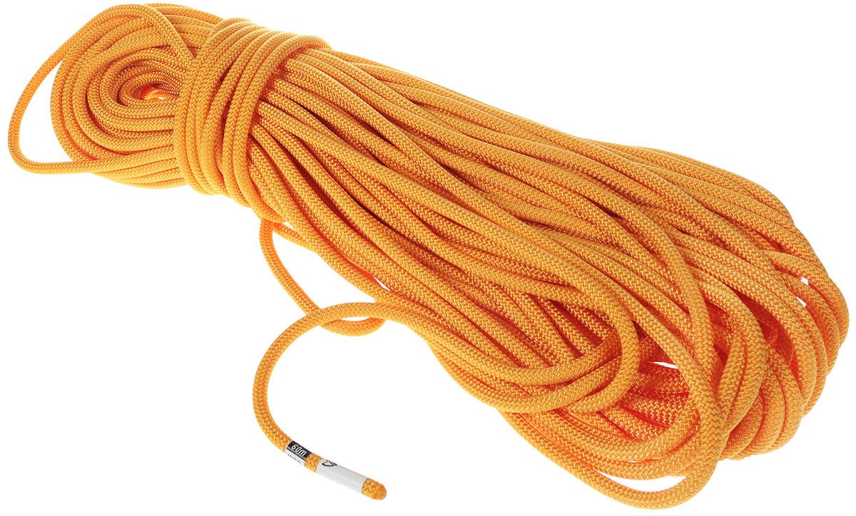 """Веревка динамическая VENTO """"Guru"""", с водоотталкивающей пропиткой, цвет: оранжевый, диаметр 8,3 мм, длина 60 м"""