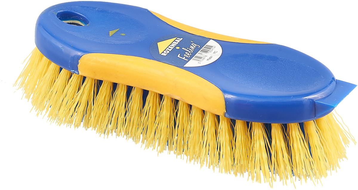 набор расческа и щетка babyono с жесткой щетиной гребешок 224 голубой Щетка Rozenbal, двуцветная, с жесткой щетиной, цвет: синий, желтый