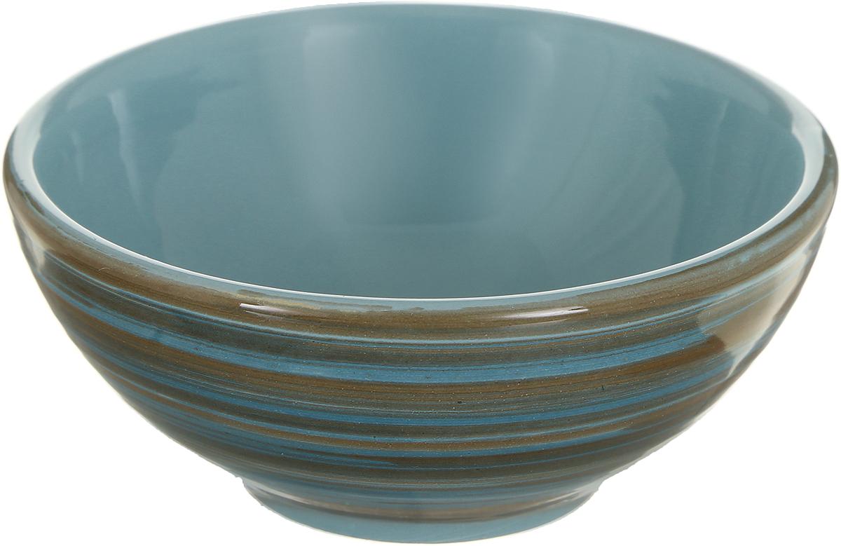 Розетка для варенья Борисовская керамика Радуга, цвет: бирюзовый, коричневый, 200 мл розетка для варенья борисовская керамика радуга цвет голубой 200 мл