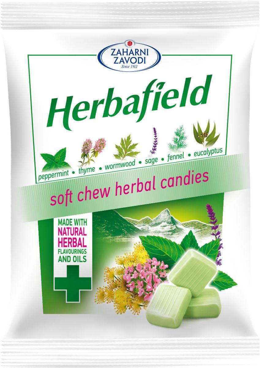 Фото - Zaharni Zavodi Herbafield Луговые травы Жевательные конфеты, 85 г fritt жевательные конфеты со вкусом вишни с витамином с 70 г
