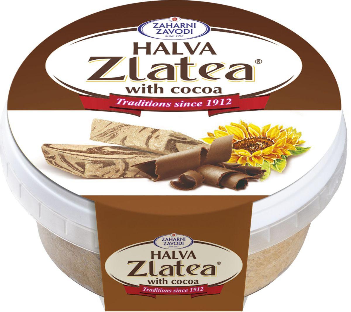 Zaharni Zavodi Zlatea Подсолнечная с какао халва, 280 г