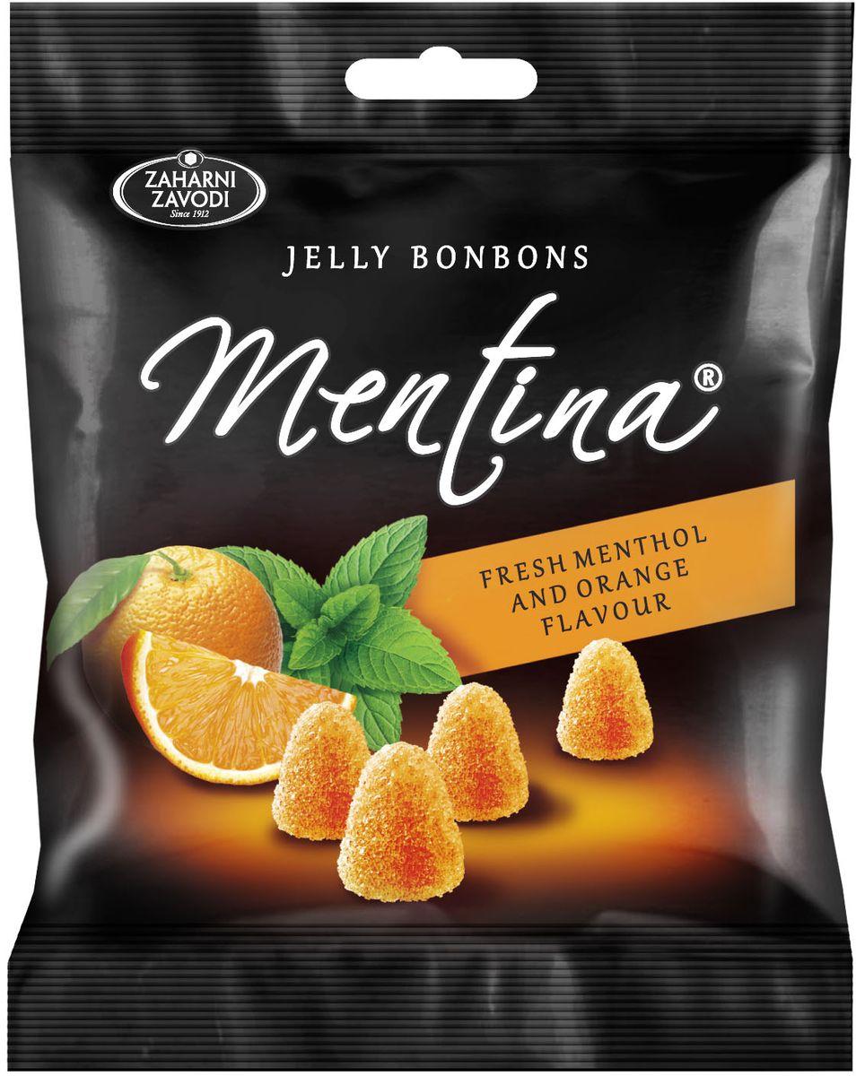 Zaharni Zavodi Mentina жевательный мармелад со вкусом апельсина и ментола, 90 г жевательный мармелад mamba фруктовый микс 24 шт х 72 г