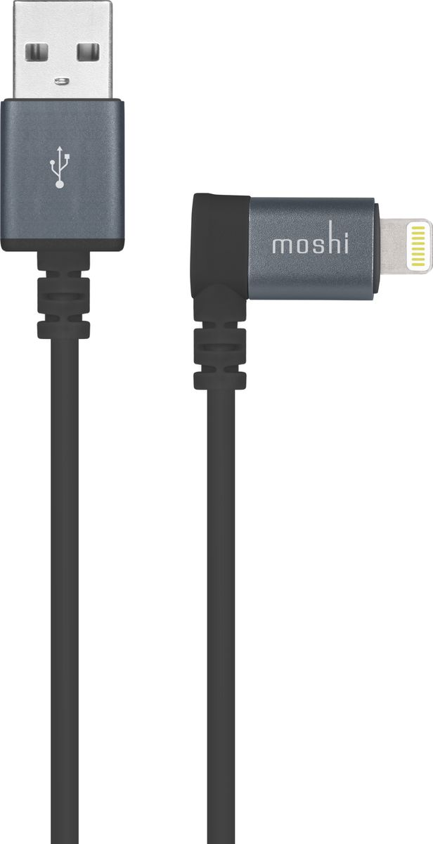 Moshi 90-degree, Black кабель USB - Lightning (1,5 м) стилус iphone ipad