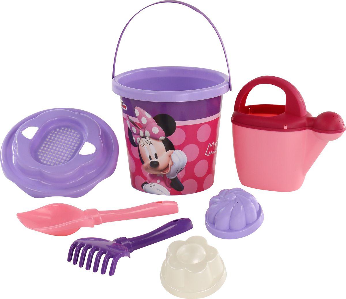 Disney Набор игрушек для песочницы Минни №12, 7 предметов, цвет в ассортименте disney набор игрушек для песочницы минни 4 цвет в ассортименте