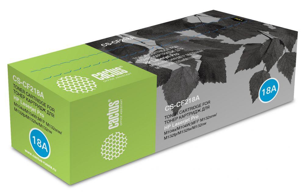 Cactus CS-CF218A, Black тонер-картридж для HP LJ M104/ M132 Pro