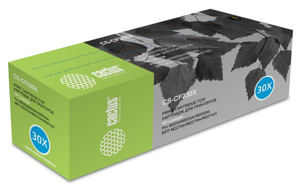 Картридж Cactus CS-CF230X, черный, для лазерного принтера