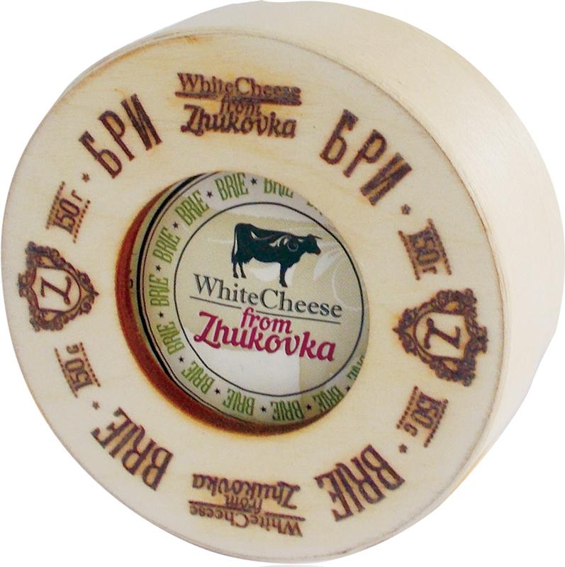 WhiteCheese from Zhukovka Сыр Бри с белой плесенью 60%, 150 г (деревянная упаковка) цена 2017