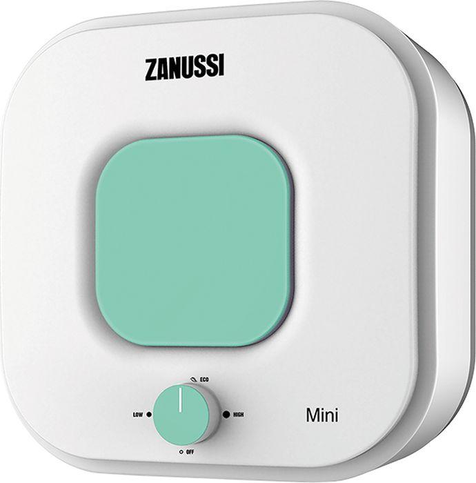 Водонагреватель накопительный электрический Zanussi ZWH/S15MiniO, 15 л, белый, зеленый электрический накопительный водонагреватель zanussi zwh s 10 mini o green