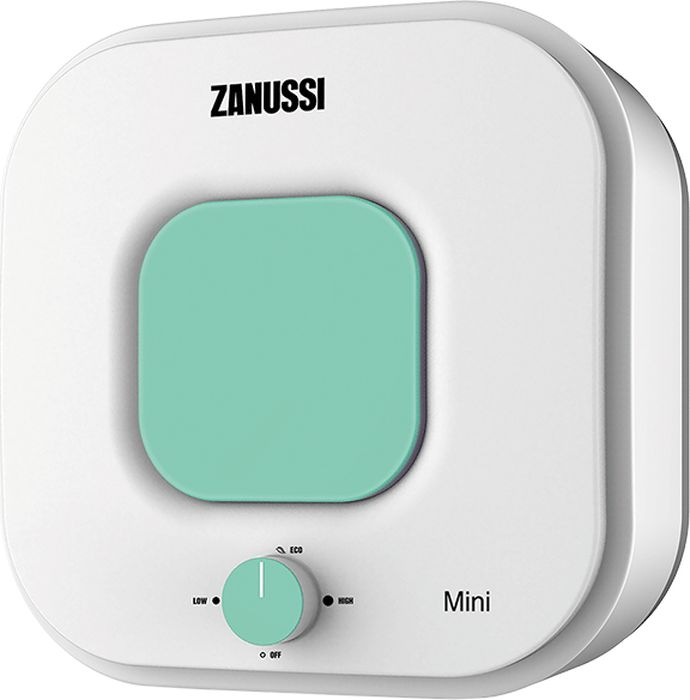 Водонагреватель накопительный электрический Zanussi ZWH/S15MiniU, 15 л, белый, зеленый цена и фото