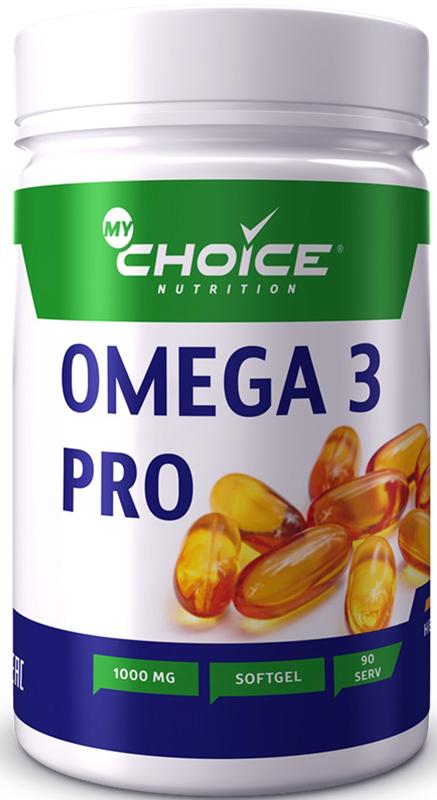 Рыбий жир MyChoice Nutrition Omega 3 pro, 1000 мг, 90 шт рыбий жир янтарная капля с витамином е 100 капсул х 0 3 мг
