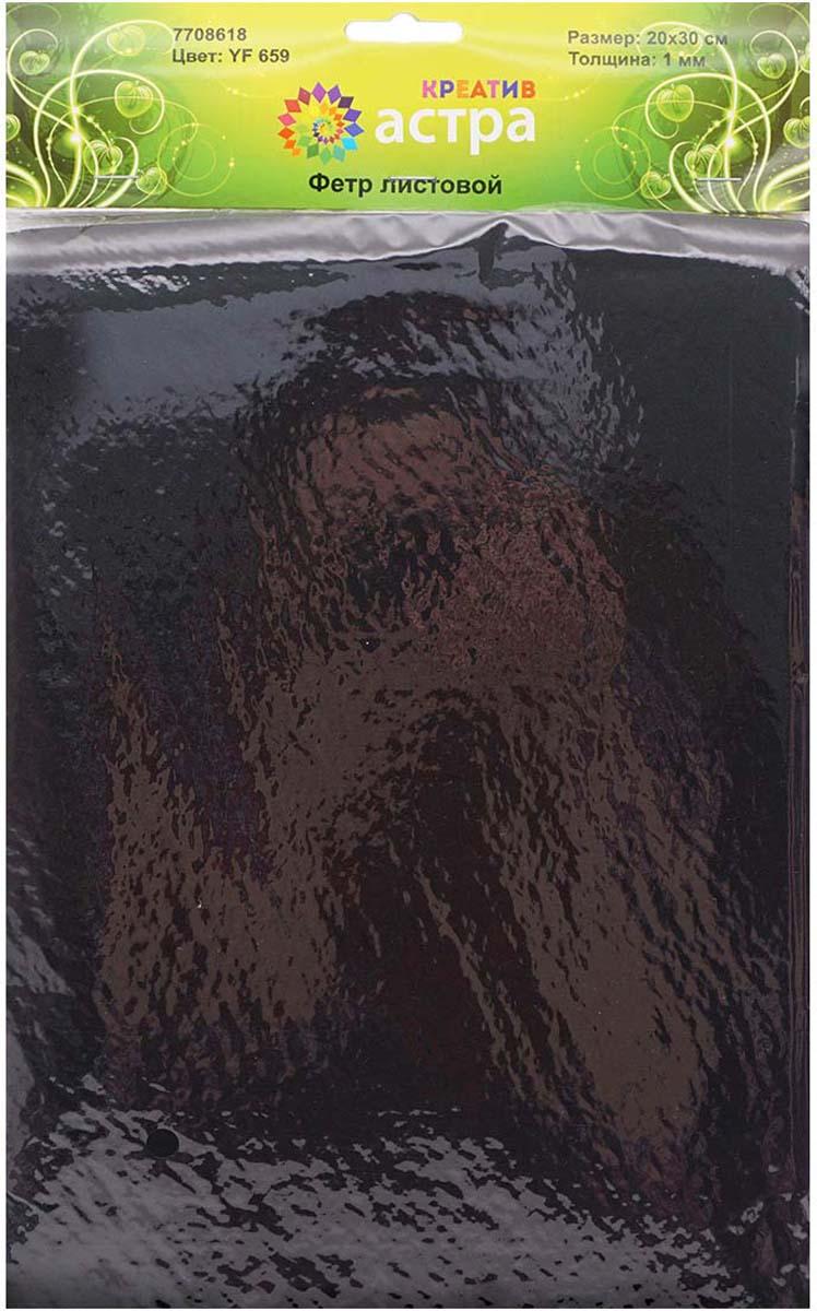 """Фетр листовой """"Астра"""", цвет: черный, 20 х 30 см, 10 шт"""