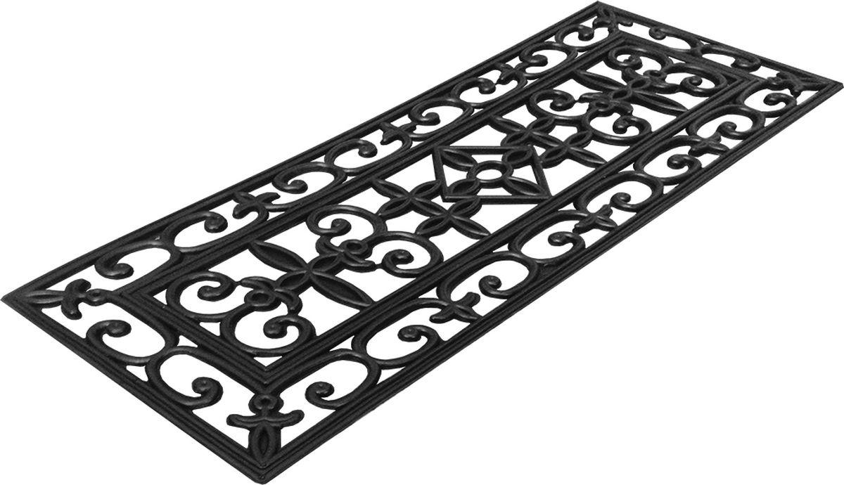 Коврик противоскользящий на ступеньку Vortex, цвет: черный, 75 x 25 см коврик vortex на ступеньку цвет коричневый 25 х 65 см