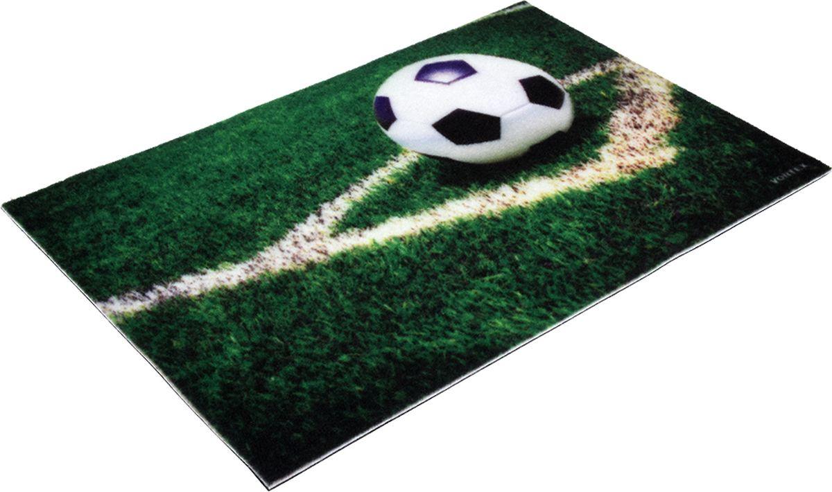 Коврик придверный Vortex Samba Футбол, влаговпитывающий, цвет: зеленый, 60 x 40 см коврик придверный vortex samba футбол влаговпитывающий цвет зеленый 60 x 40 см