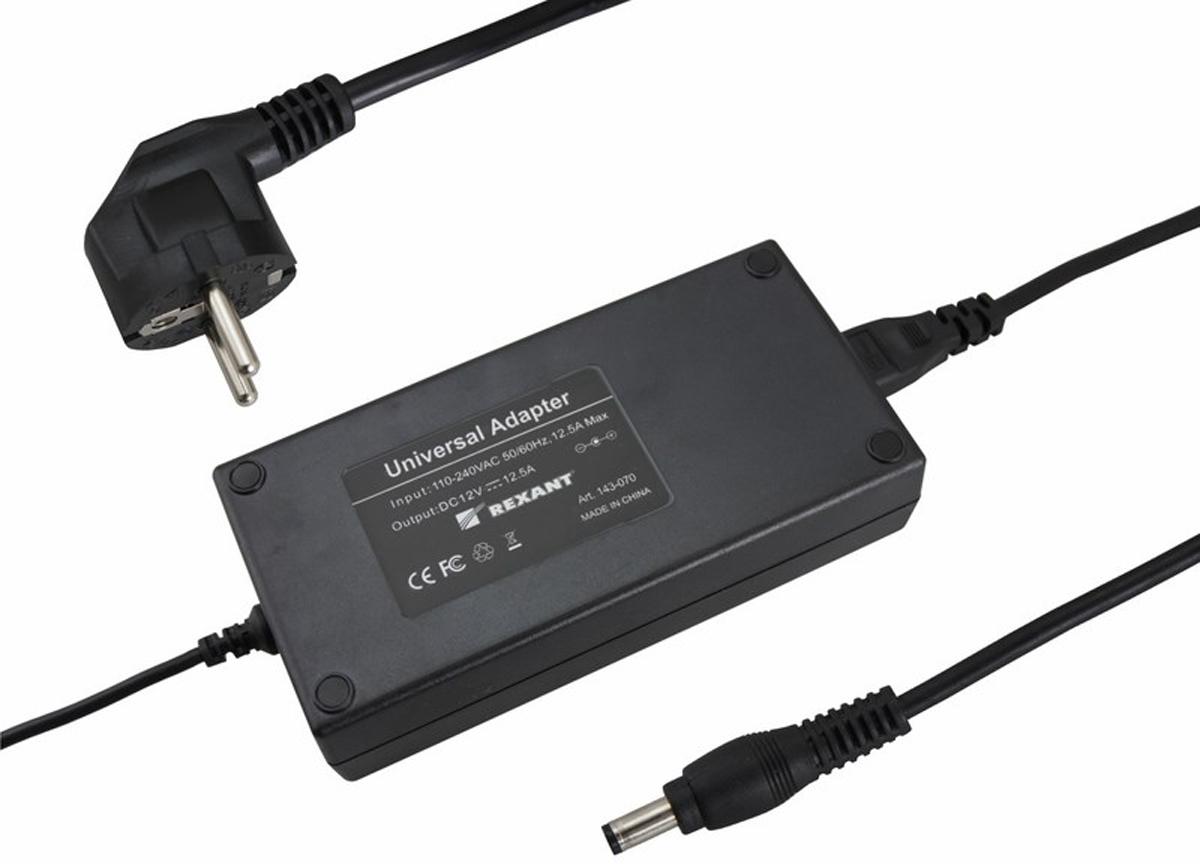 Блок питания для светильника Rexant, 12,5А, 150W, с DC разъемом подключения 5.5 х 2.1, без влагозащиты200-150-3Источник питания можно использовать не только для LED продукции, но и для систем безопасности, видеонаблюдения и питания любых других низковольтных систем. Данная модель имеет мощность 150 Вт и DC разъем 5,5 x 2,1 мм для подключения.