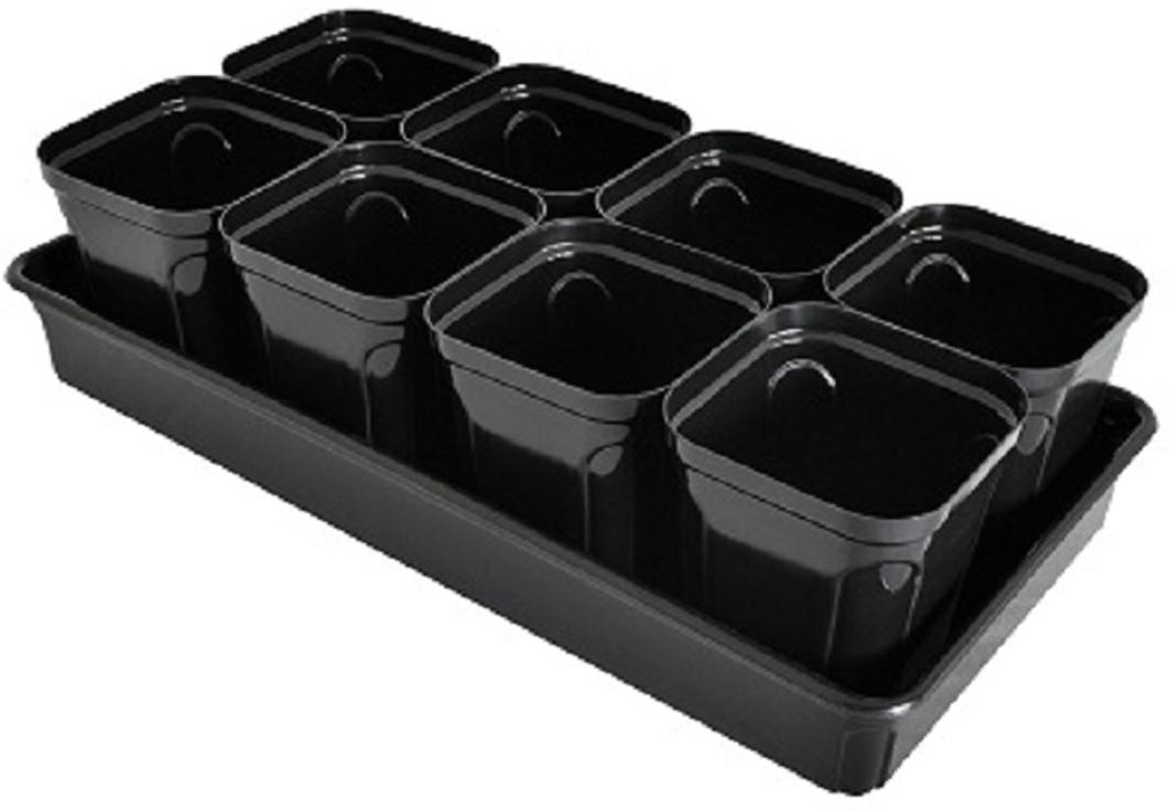 Набор горшков для выращивания рассады Martika Пианто, с поддоном, 645 мл, 8 шт набор для выращивания магнолия 7 6х7см