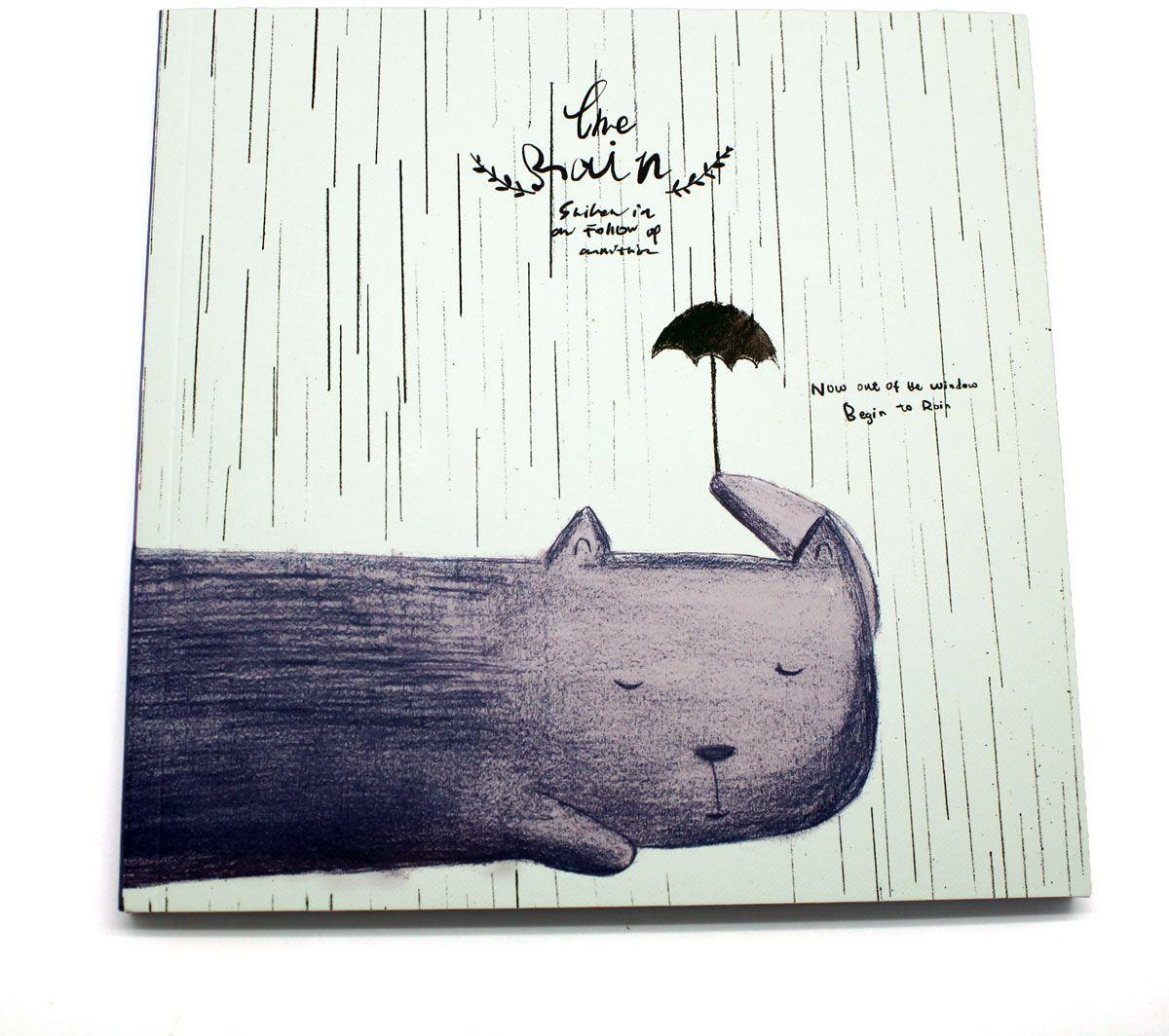 Еж-стайл Скетчбук The Rain Кот еж стайл тетрадь deep in the meadow гусь 38 листов в линейку