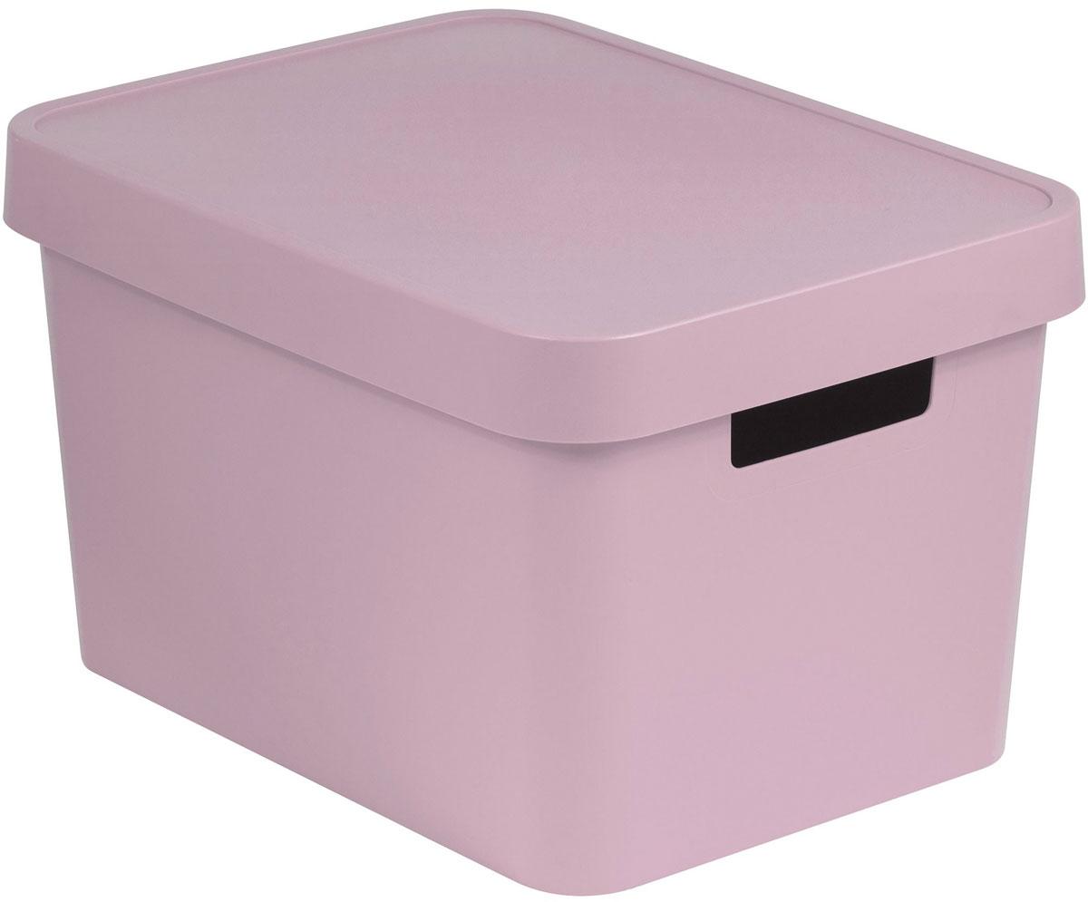 Коробка для хранения Curver Infinity, с крышкой, цвет: розовый, 17 л цена