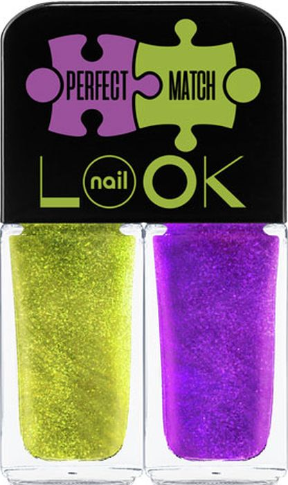 NailLOOK Лак для ногтей Trends Perfect Match, Dream&Muse, 2 шт, 3 мл лак для ногтей naillook trends donut bar banana iced sprinkles 2 х 3 мл