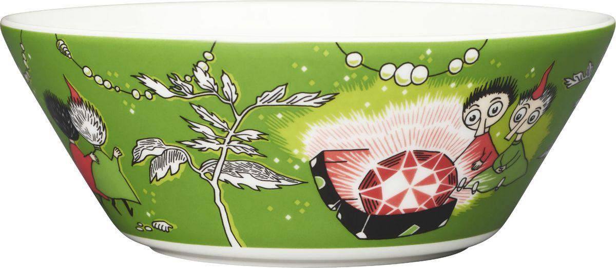 """Пиала Moomin """"Тофсла и Вифсла"""", цвет: зеленый, 380 мл"""