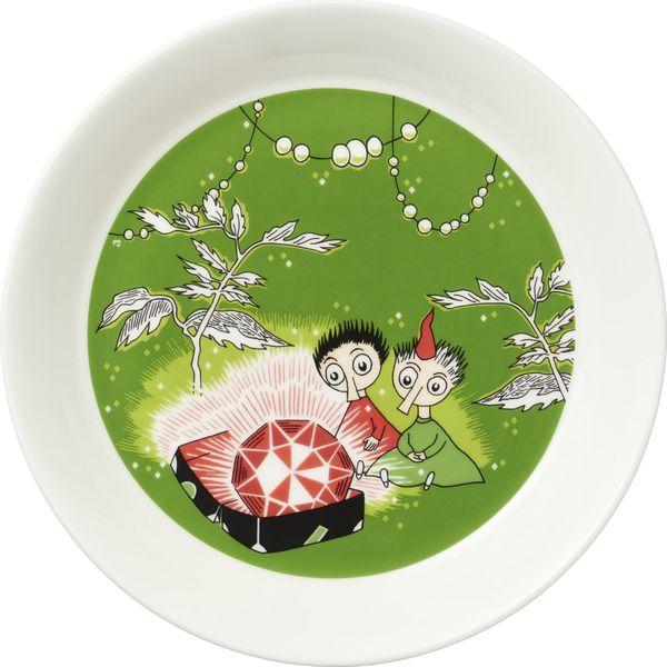 Тарелка Moomin Тофсла и Вифсла, цвет: зеленый, диаметр 19 см moomin тарелка предок
