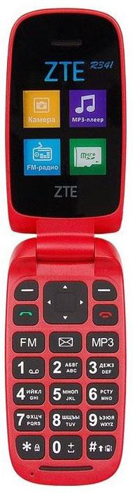 Мобильный телефон ZTE R341, темно-красный сотовый телефон zte blade x3 gold