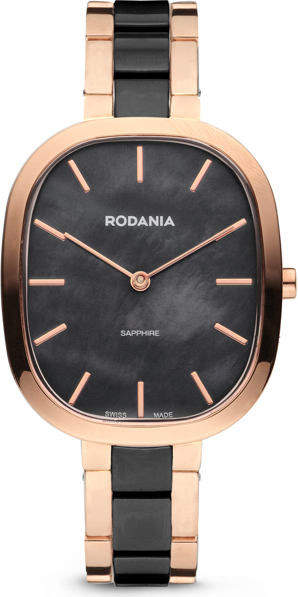 Часы наручные женские Rodania, цвет: черный, золотой. RD-74-03 все цены