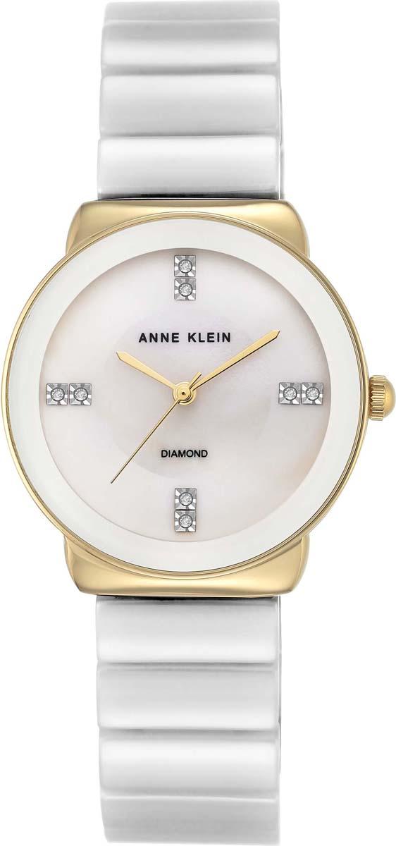 Часы наручные женские Anne Klein, цвет: белый, золотой. AK-2714-03 все цены