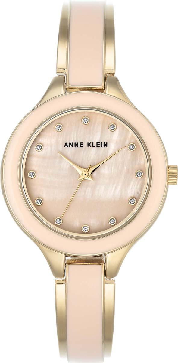 лучшая цена Часы наручные женские Anne Klein, цвет: светло-розовый, золотой. AK-2934-03