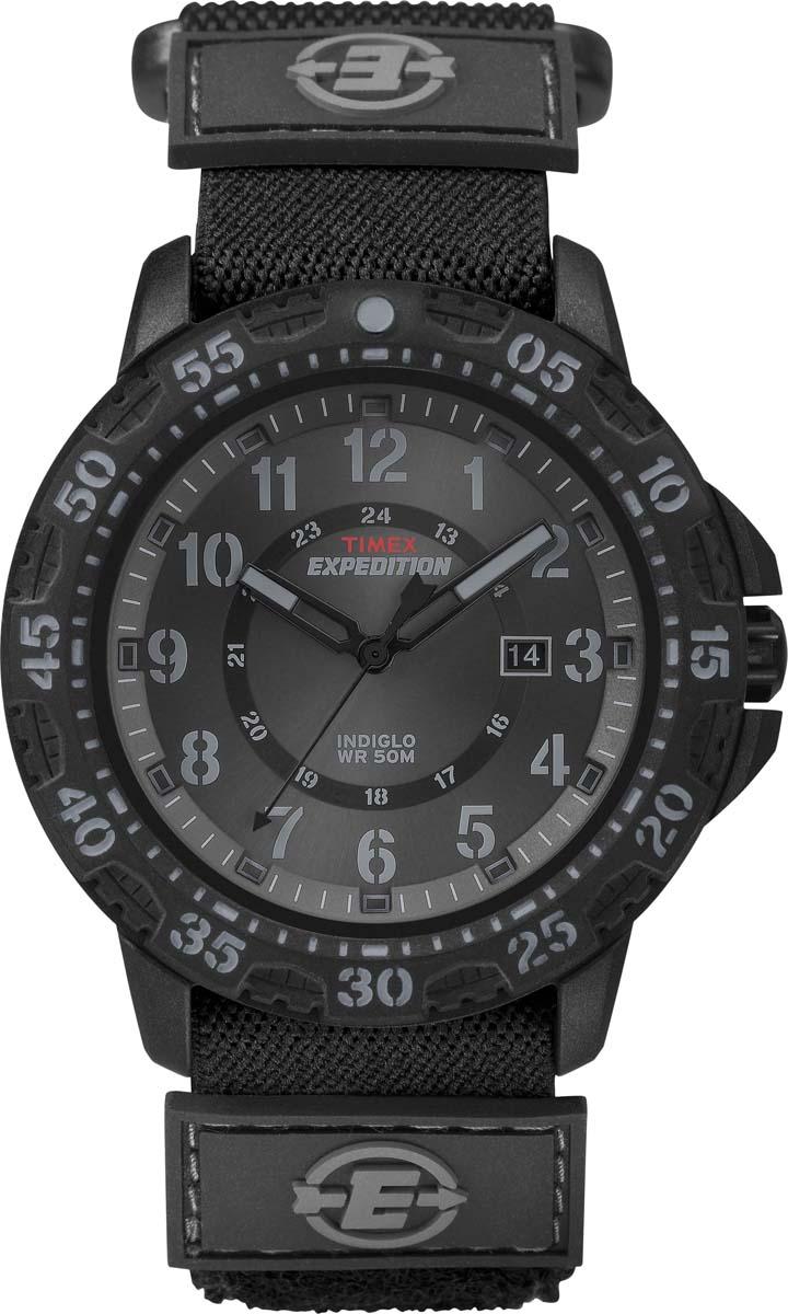 Часы наручные мужские Timex, цвет: черный, черный. TMX-54-132 все цены