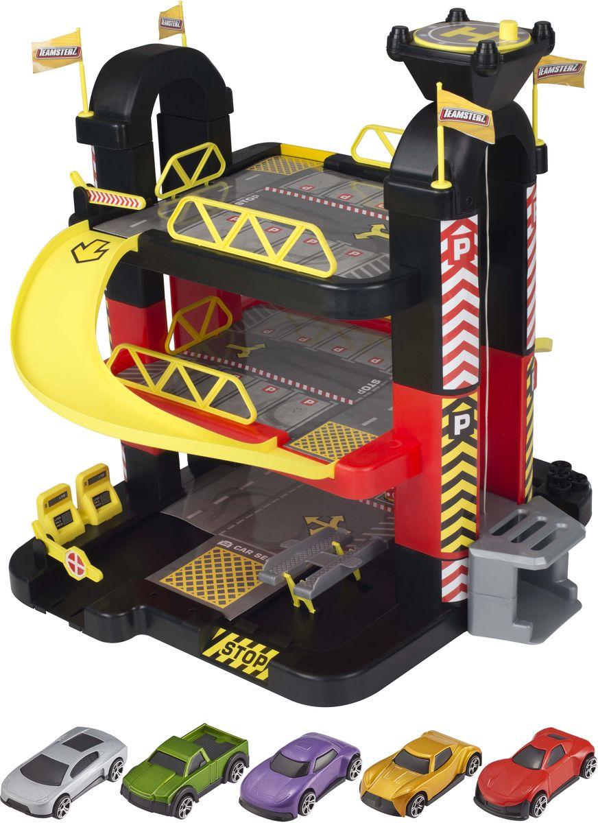 HTI Игрушечный трек Трехуровневый гараж феникс развивающая книжка мой игрушечный гараж