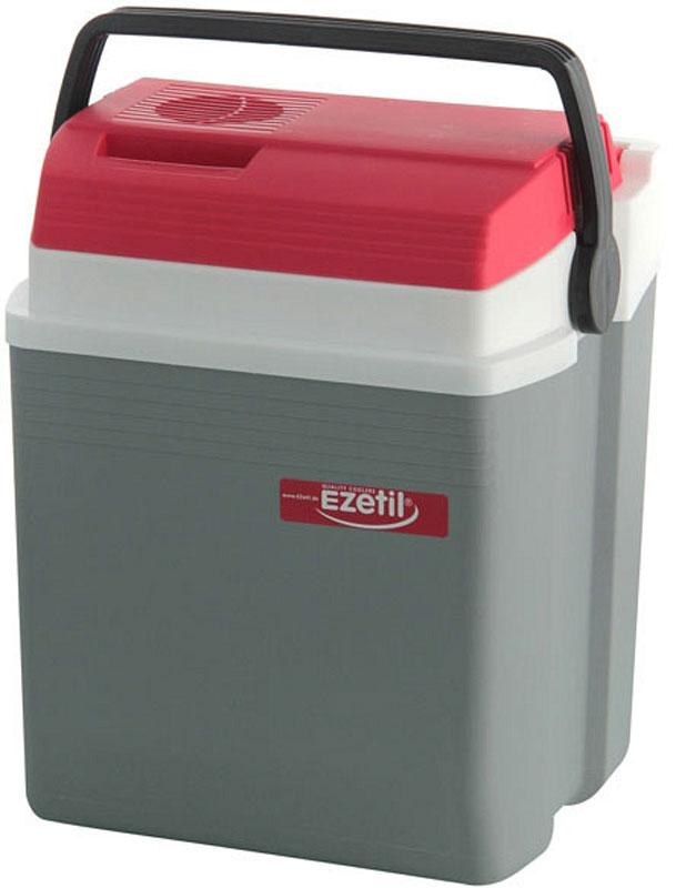 Автомобильный холодильник Ezetil E 21, цвет: красный, серый, 19,6 л термоэлектрический контейнер охлаждения ezetil e21 12v цвет красный серый 19 6 л