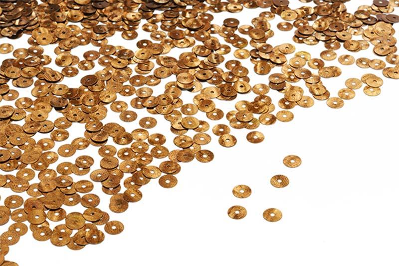Пайетки плоские Ideal, цвет: медь (140), 6 мм, 50 г