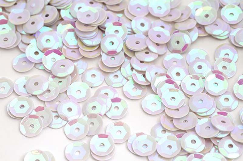 Пайетки Ideal, цвет: белый (99), 8 мм, 50 г ТВY.FLK032.99