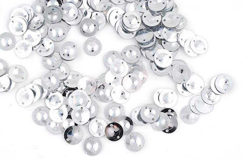 Пайетки Ideal, цвет: серебряный (1), 8 мм, 50 г. ТВY.FLK045.001.8