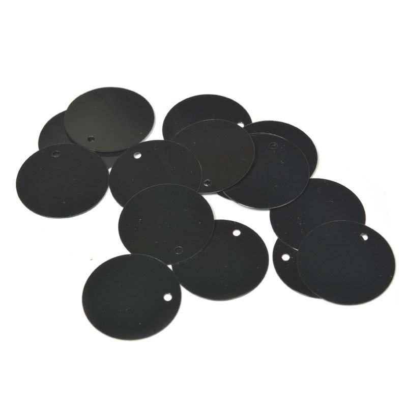 Пайетки Ideal, цвет: черный (A075), 20 мм, 50 г. ТВY.FLK105.A075