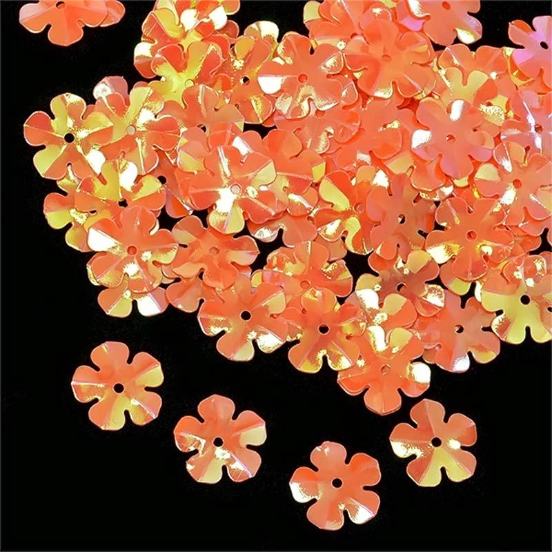 Пайетки Ideal, цвет: оранжевый (327), 14 мм, 50 г. ТВY.FLK465.327ТВY.FLK465.327Пайетки - плоские пришивные элементы для декорирования, напоминающие блестящие чешуйки. Вышивка пайетками часто сочетается с вышивкой бисером, на многих изделиях это выглядит эффектно и органично. Пайетки предназначены для декорирования различных видов изделий. Преимущественно это одежда, обувь, аксессуары, а также вышивка картин.