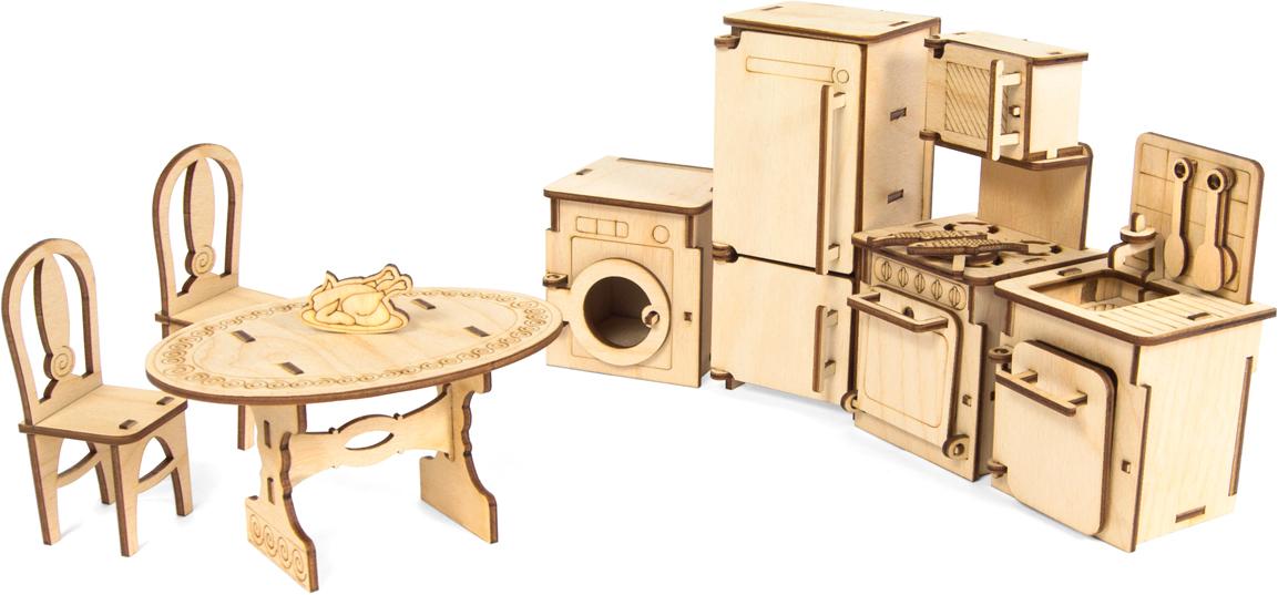 """Мебель для кукол Iq Format """"Кухня"""", 9 предметов, 86 деталей"""